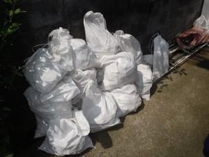 現場からの排出ゴミ