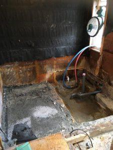 浴室施工中3